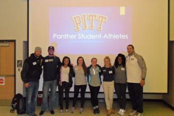 Pitt Athletes Come Visit