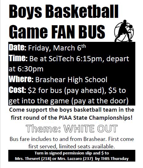 Basketball Game Fan Bus